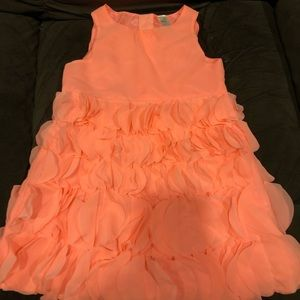 Little girls size 3T peach tiered dress
